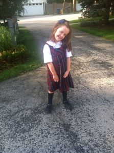 Mommy's first day of Kindergarten.