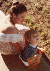 My smart mama and me.