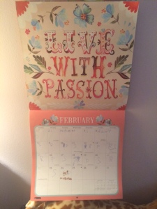 Peanut's precious calendar.